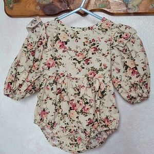 Girls floral onesie